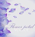 Watercolor greeting floral card vector image vector image