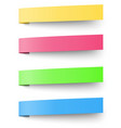 Yellow red blue and green sticky notes isolated vector image vector image