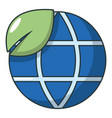 ecology earth planet globe icon cartoon style vector image