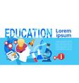 education online learning school university vector image