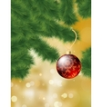 christmas tree bauble vector image