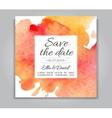 wedding invitation card with watercolor vector image