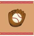 baseball ball glove vector image vector image