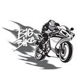 big bike vector image