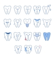 Big Dental Teeth Collection vector image vector image