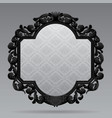 black vintage carved classic frame with white vector image vector image