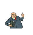 businessmen with cash rich people vector image