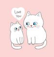 cartoon cute mom and baby cat vector image