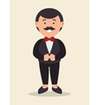 cartoon groom standing with wedding suit design vector image