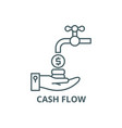 cash flow line icon cash flow outline vector image vector image