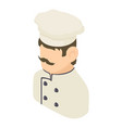 chef man icon isometric 3d style vector image vector image