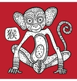 Chinese Zodiac Animal astrological sign monkey vector image