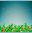 christmas spruce winter snow fall vector image vector image