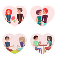 couples in love set images vector image vector image