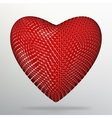 Creative concept Background of the red heart vector image vector image