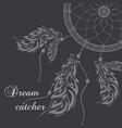 dream catcher dark background vector image vector image