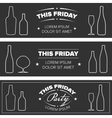Drink Party banners vector image
