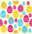 easter seamless pattern with colored easter eggs vector image