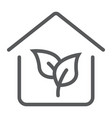 eco house line icon real estate and home ecology vector image vector image