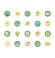 ecological green energy block icons collection vector image
