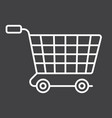 ecommerce solutions line icon seo and development vector image