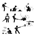 exterminator pest control stick figure pictogram vector image