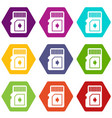 flash drive icons set 9 vector image