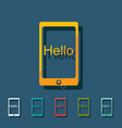 flat icon gadget phone business theme vector image vector image