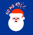 flat icon of santa claus saying ho ho ho vector image