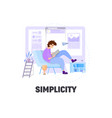 flat style business scene with tiny people vector image vector image