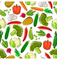 Fresh vegetables vegetarian seamless background vector image vector image