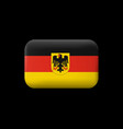 germany flag with coat of arms matted icon