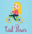 girl power kids postcard template vector image vector image