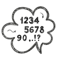 hand drawn doodle numbers mathematical and vector image vector image