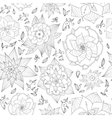 Hand drawn floral seamless pattern on white vector image