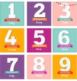 happy birthday set greeting cards vector image
