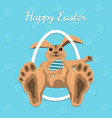 happy easter gift card vector image vector image