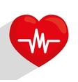 Heart cardio graphic vector image