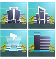 hospital modern building in flat style isolated on vector image vector image