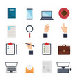 human resources set icons vector image