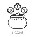 income isolated icon money profit growth vector image