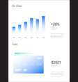 infographic elements ui and ux kit with big data vector image vector image