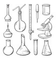 laboratory equipment hand drawn vector image