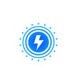 lightning bolt electric power vector image vector image