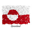 love greenland flag heart glossy with love from vector image vector image