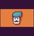 man head logo or icon for app or mobile or web vector image vector image