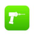 medical drill icon digital green vector image vector image