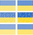 Mosaic Ukraine flag set vector image vector image