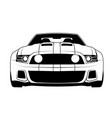 muscle car line art outline car vector image vector image