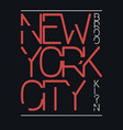 new york city brooklyn typography graphics print vector image vector image